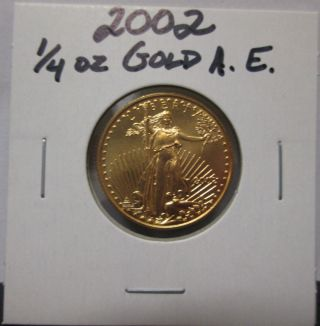 2002 1/4 Oz $10 Gold American Eagle Unc Coin photo