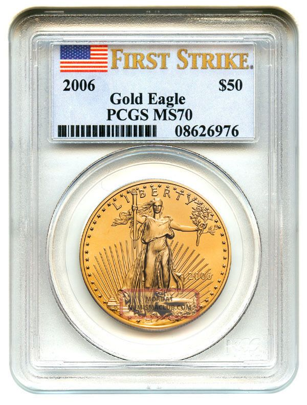 2006 Gold Eagle $50 Pcgs Ms70 (first Strike) American Age Gold photo
