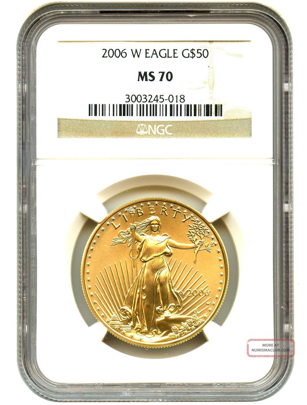 2006 - W Gold Eagle $50 Ngc Ms70 American Gold Eagle Age Gold photo