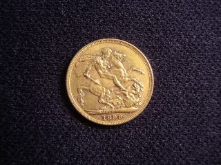 Australian 1899 (m) Gold Full Sovereign Queen Victoria Veiled Head photo