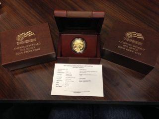 2013 W $50 Gold Buffalo Proof Usmint Box And photo