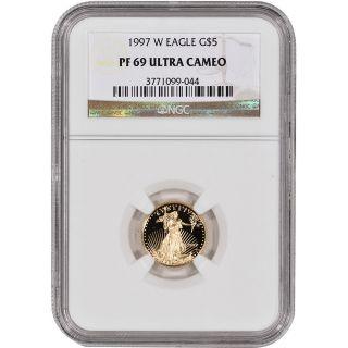 1997 - W American Gold Eagle Proof (1/10 Oz) $5 - Ngc Pf69ucam photo
