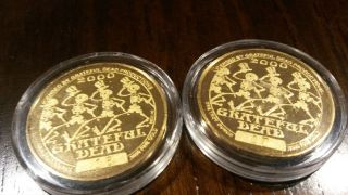 Grateful Dead Gold Coin 16 & 17 (2of 100).  9999 Fine Gold 1oz Each photo