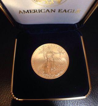1 Oz Gold American Eagle $50 Coin 2011 W/ Box photo