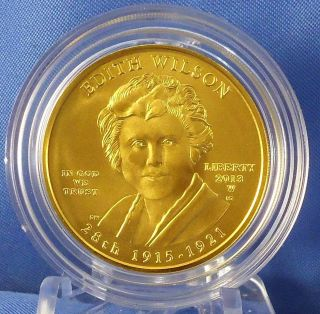 2013 W Edith Wilson 1st Spouse Series 1/2 Oz $10 Gold Specimen Uncirculated Coin photo