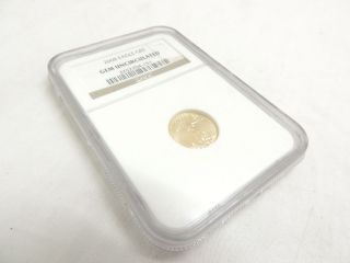2008 Gold Eagle $5 Tenth - Ounce Gem Uncirculated Ngc 1/10 Oz Fine Gold photo