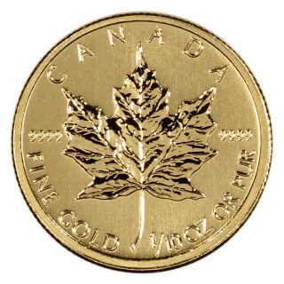 2013 Canadian Gold (1/10 Oz) Maple Leaf $5 - Bu photo
