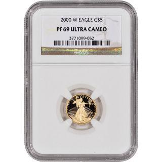 2000 - W American Gold Eagle Proof (1/10 Oz) $5 - Ngc Pf69ucam photo