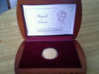 2007 - W 1/2 Oz Proof Gold Abigail Adams (w/box &) photo