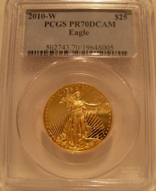Usa 2010 - W Gold Eagle 1/2 Oz $25 Pcgs Pf - 70dcam photo
