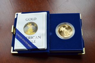 American Eagle $50 One Ounce Proof Gold Bullion Coin - 1986 W photo