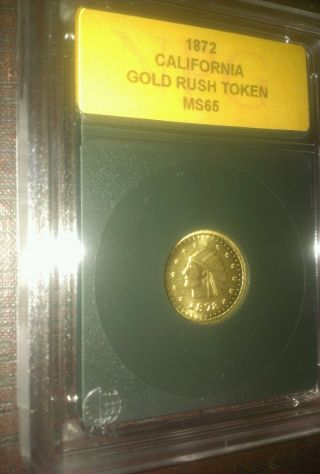 1872 California Gold Dollar Token Uncirculated photo