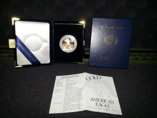 2003 1oz American Eagle Gold Proof Coin And Certificate photo