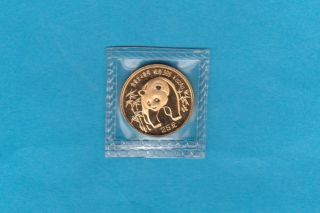 Gold Chinese Panda Coin 1986 - 25 Yuan 1/4 Oz Of The Yellow Metal. . . photo