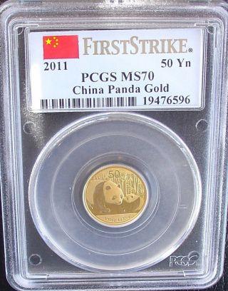 2011 Pcgs Ms 70 China Gold Panda