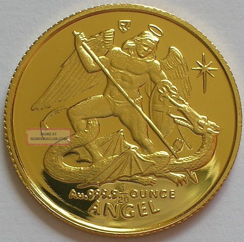 1994 Isle Of Man Elizabeth Ii Gold Proof 1 20 Angel Coin