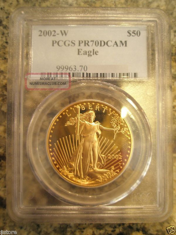 2002 - W $50 Pcgs Pr70dcam Gold American Eagle Gold photo