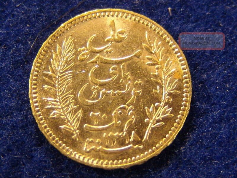 rare tunisia 20 franc 1900 gold coin minted in paris. Black Bedroom Furniture Sets. Home Design Ideas