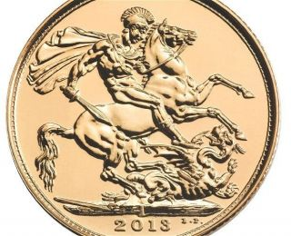 2013 Gold Sovereign Struck In India 7.  98 Grams By Royal photo