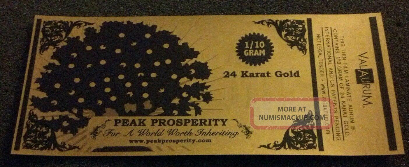 24k Gold Aurum 1 10 Gram Note By Valaurum Peak Prosperity