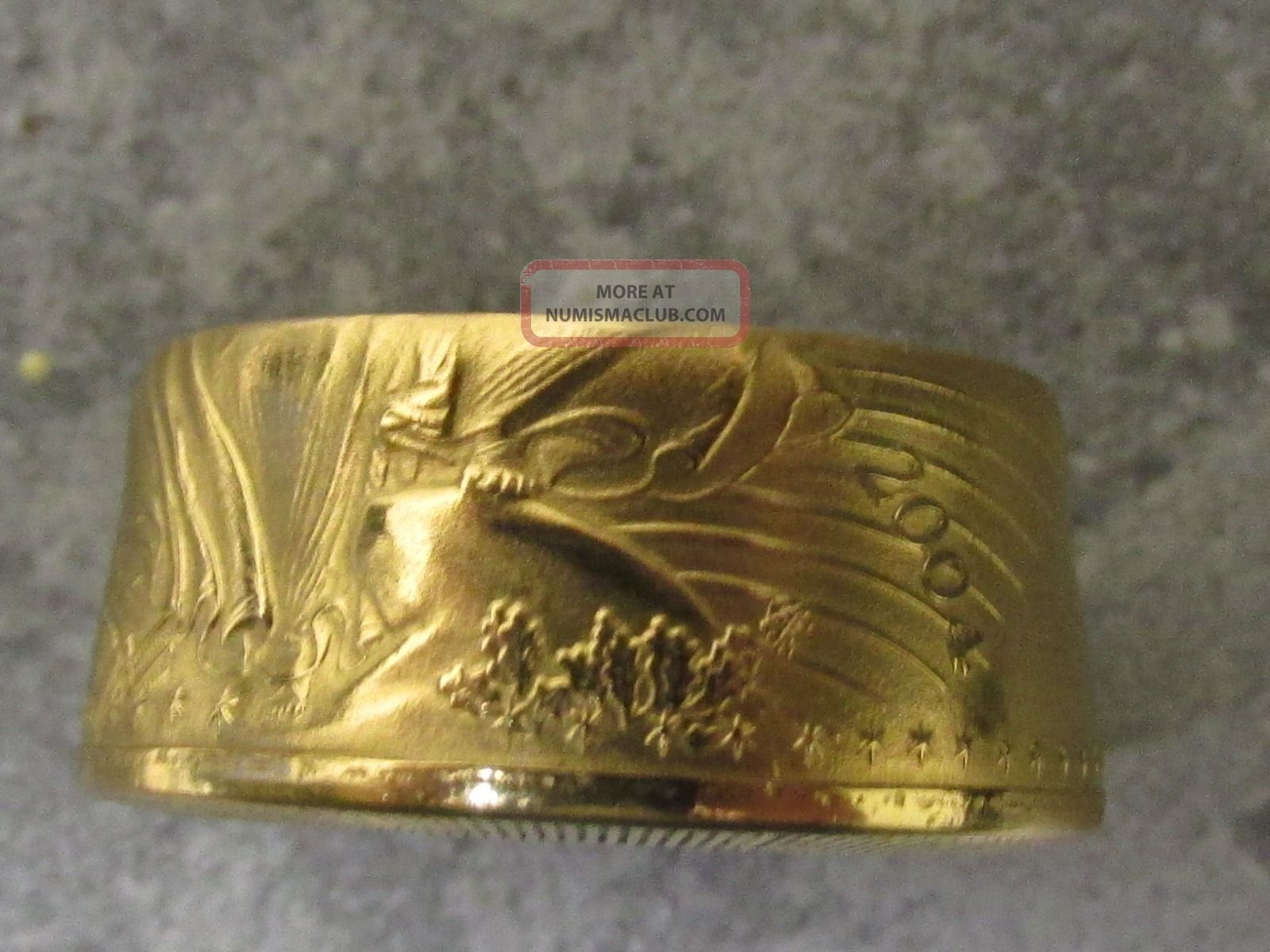 2004 $50 American Gold Eagle 1 Oz Coin Crafted Into A 22k