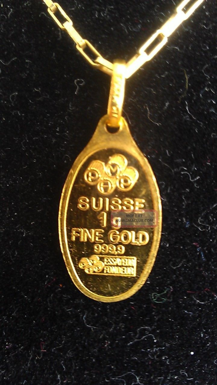Pamp suisse gold pendant 9999 fine lady fortuna 1 gram aloadofball Image collections