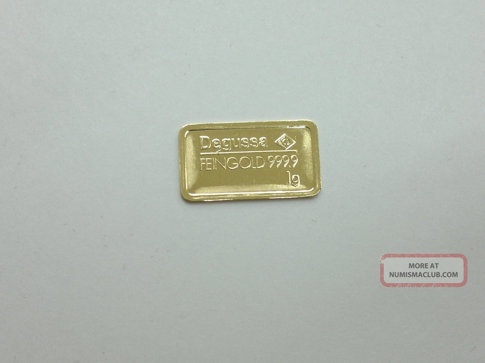 1 Gram Gold Bar 999 9 Pure Degussa Germany With Case