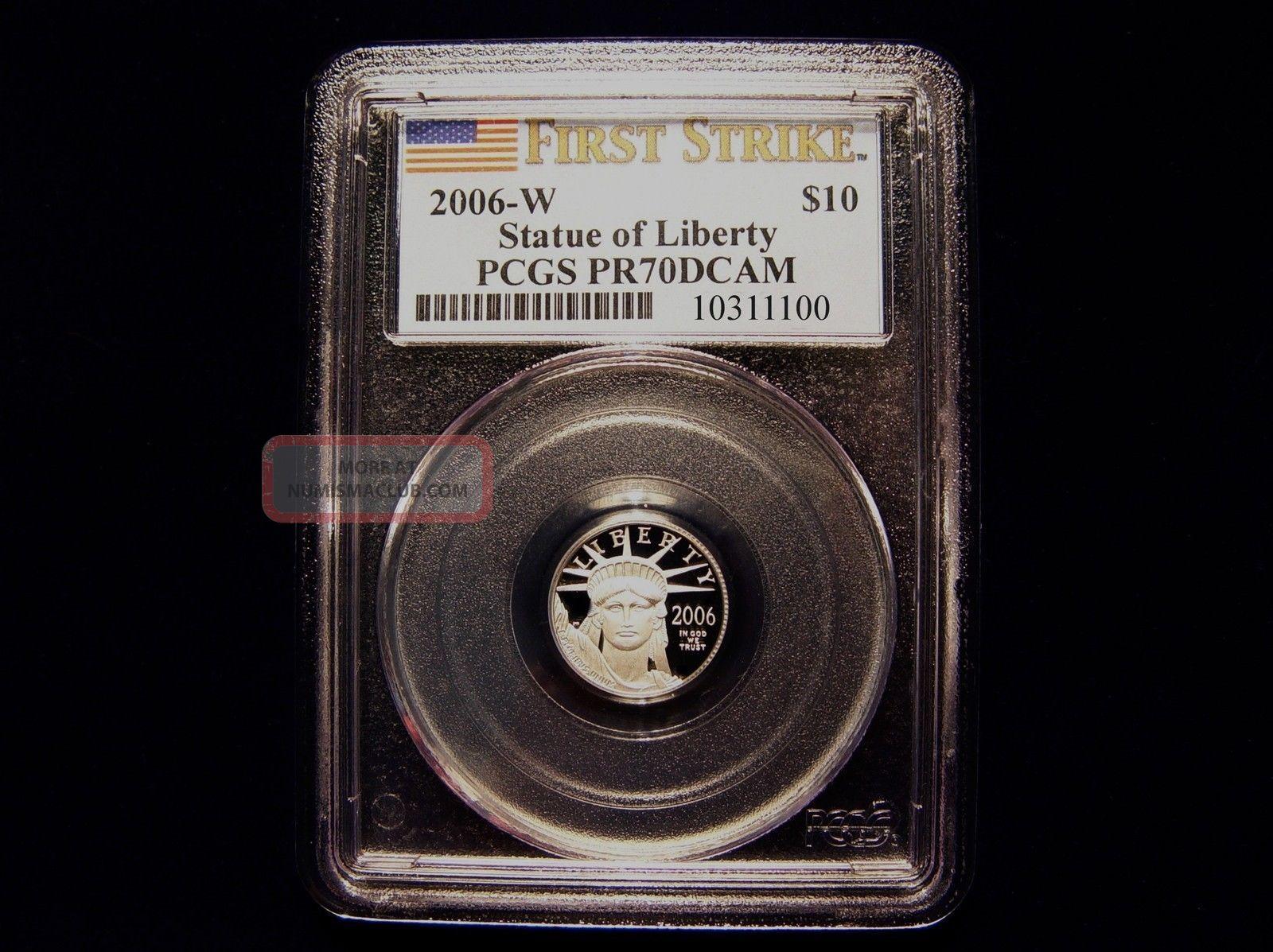 2006 W Pcgs Pr70dcam $10 First Strike Designated Proof Platinum Eagle Pop 38 Platinum photo