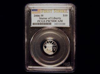2006 W Pcgs Pr70dcam $10 First Strike Designated Proof Platinum Eagle Pop 38 photo