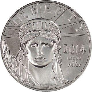 2014 American Platinum Eagle (1 Oz) $100 photo