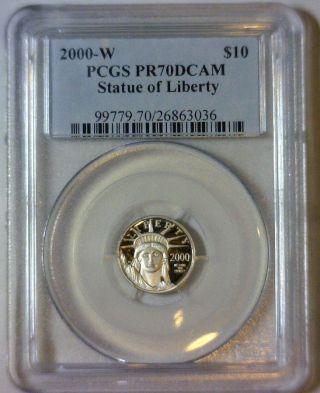 2000 - W,  Pcgs Proof - 70 Deep Cameo,  $10 Platinum Eagle photo