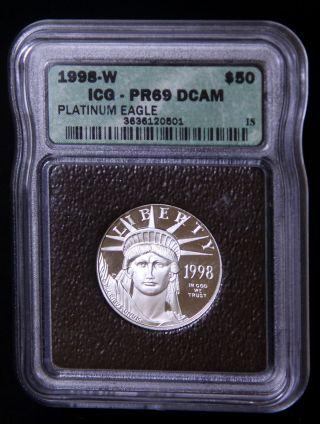 1998 - W $50 1/2 Oz Platinum Eagle Pr69 photo
