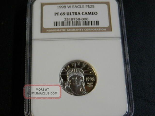 1998 - W $25 Proof 69 Platinum American Eagle Platinum photo
