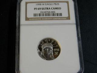 1998 - W $25 Proof 69 Platinum American Eagle photo