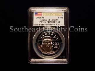 2013 W Pcgs Pr70dcam $100 First Strike Proof Platinum Eagle photo