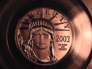 2003 $50 Pcgs Ms69 Statue Of Liberty 1/2 Oz.  Platinum Coin photo