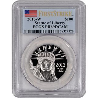 2013 - W American Platinum Eagle Proof (1 Oz) $100 - Pcgs Pr69 Dcam First Strike photo