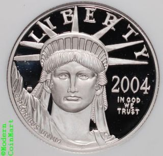 2004 - W $50 1/2 Oz Platinum Eagle Ngc Pf69 Uc Proof 69 Ultra Cameo Sku17388 photo