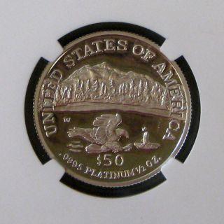 2002 W 1/2 Oz.  Platinum Eagle $50 Dollar Ngc Pr 69 photo