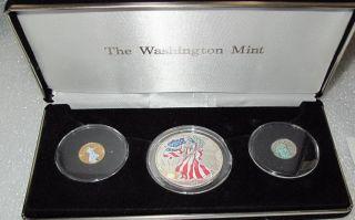 1999 Usa Gold Eagle,  Platinum Eagle Silver Eagle Dollar Color Rare photo