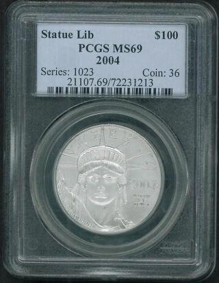 2004 $100 American Eagle Platinum Bullion Ms69 photo