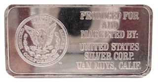 Very Rare Engelhard 1 Oz Platinum Produced For U.  S.  Silver Corp.  Van Nuys,  Ca photo