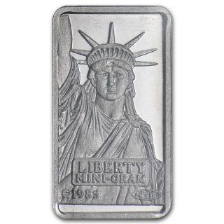 Platinum 1 Gram Pure.  999 Statue Of Liberty Bar Credit Suisse $84.  88 photo