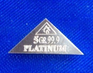 Acb 2 Pyramids X1 Palladium & X1 Platinum 5grain Bullion Minted Bar 99.  9 Pure photo