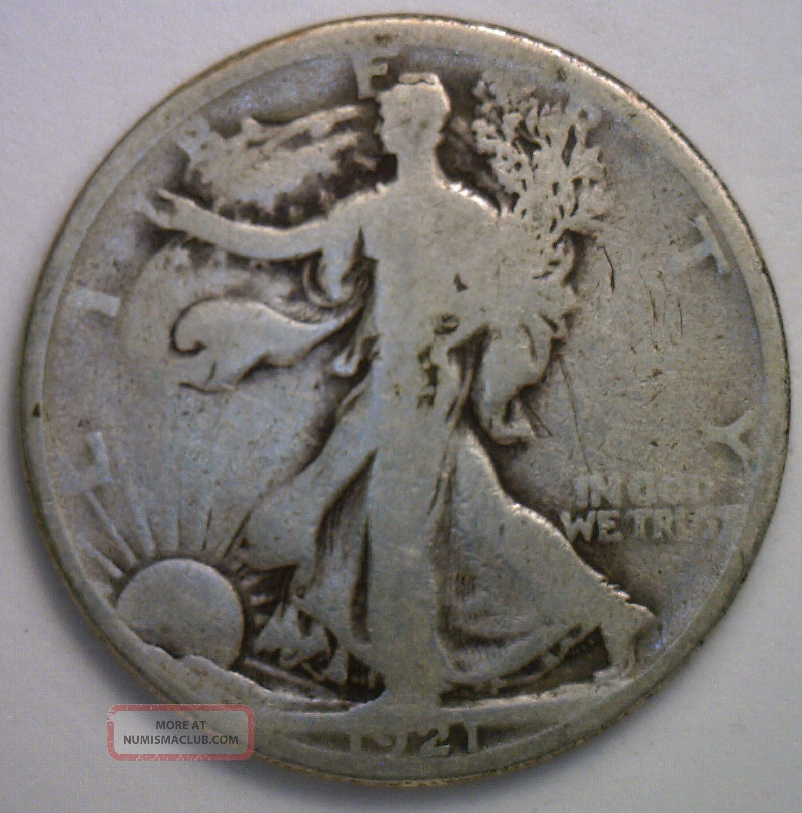 1921 Walking Liberty Silver Half Dollar 50 Cent Us Type