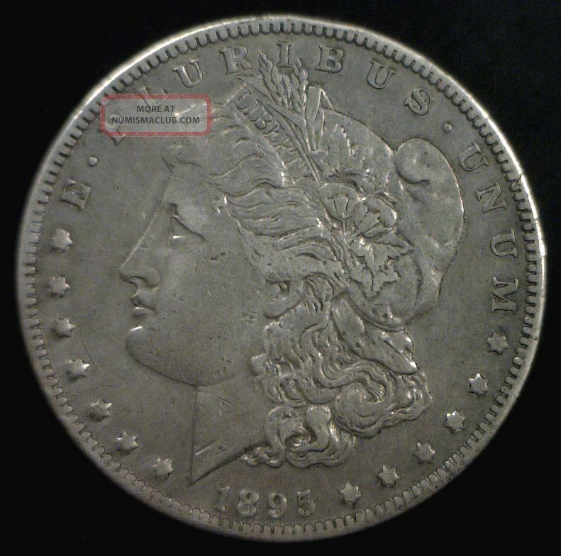 1895 - O $1 Morgan Dollar Vf+ Cleaned Dollars photo