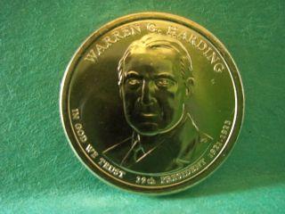 2014 Warren Harding President Dollar 1p & 1d Now photo