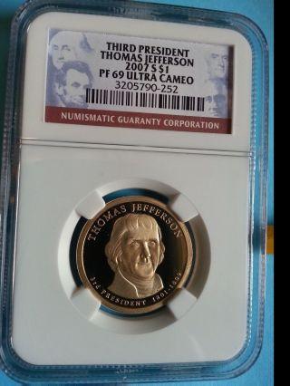 2008 - S John Quincy Adamspreseidential Dollar - Pcgs Pr69 Dcam Proof $1 photo
