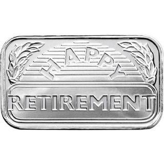 Happy Retirement 2014 1oz.  Fine Silver photo