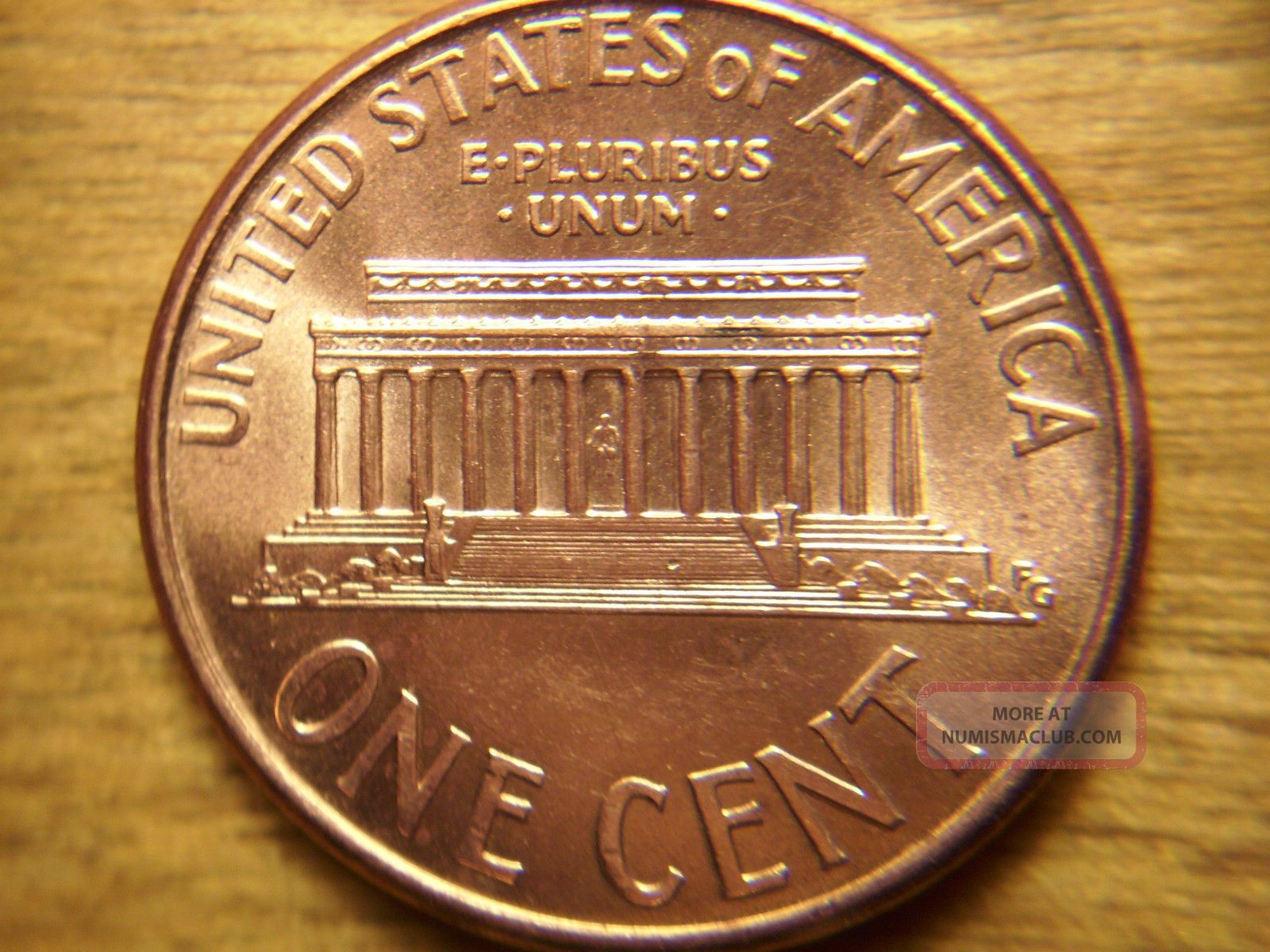 2004 - P Lincoln Memorial Cent Double Die Reverse 1dr - 007 Au